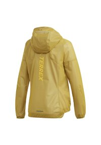 adidas Performance - TERREX AGRAVIC RAIN JACKET - Waterproof jacket - gold - 9