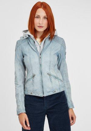 LAMOV - Leather jacket - hbl:light blue