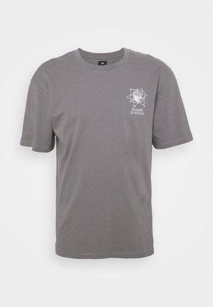 SYSTEM TRAGEDY UNISEX - Print T-shirt -  frost grey
