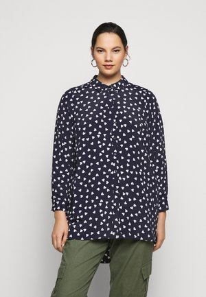 WITH HEART - Button-down blouse - navy