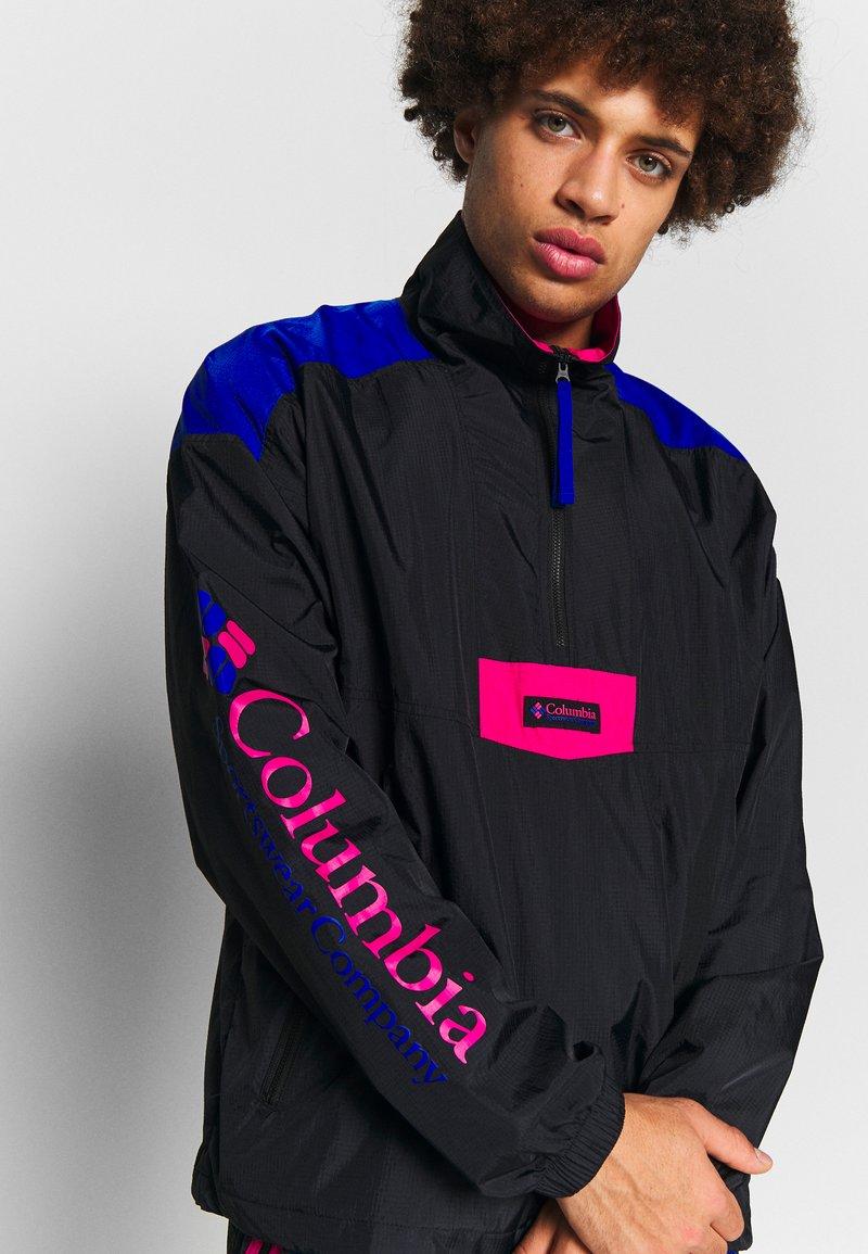 Columbia - SANTA ANA ANORAK - Veste coupe-vent - black/azul/cactus pink
