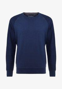 CREWNECK STRUCTURED SLEEVES - Sweatshirt - agate stone blue