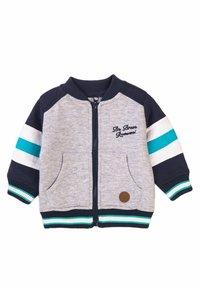 MINOTI - 3 SET - Zip-up sweatshirt - dark blue light blue grey - 1