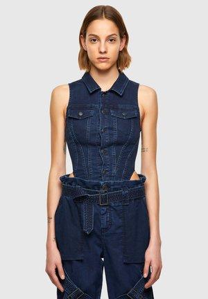 Button-down blouse - medium blue