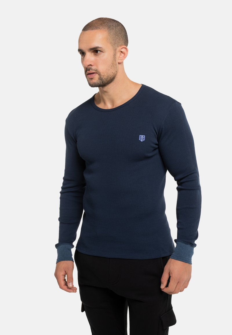 Schiesser Revival - FRIEDRICH - Long sleeved top - blau 15