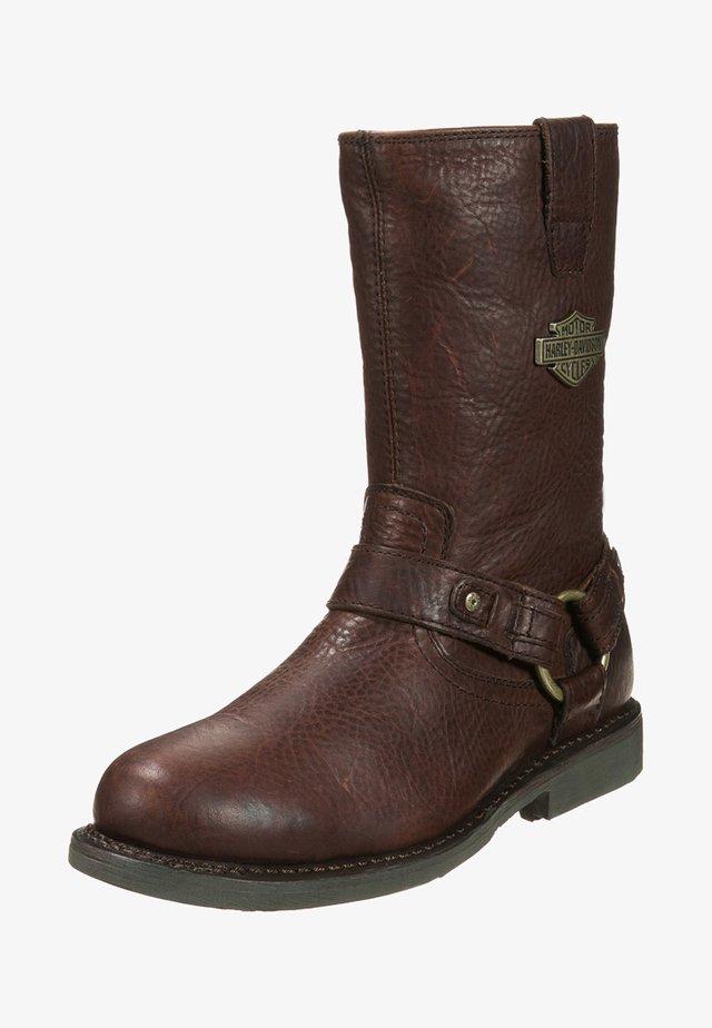 JOSH - Cowboy/Biker boots - burnt sienna