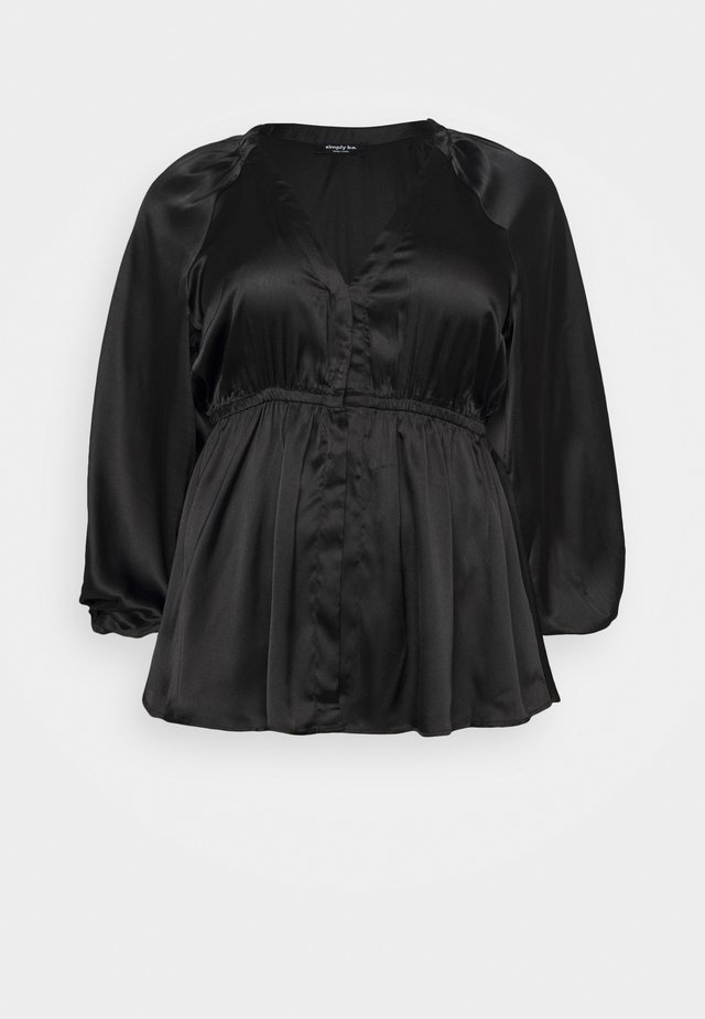 KIMONO BLOUSE - Blouse - black
