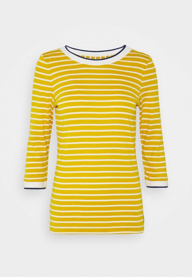 STRIPED - Pitkähihainen paita - brass yellow