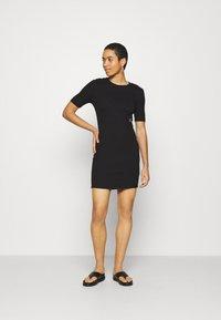 Calvin Klein Jeans - SLUB DRESS - Shift dress - black - 1