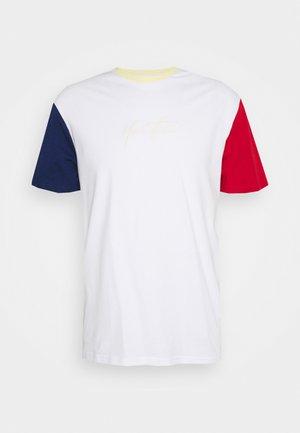 UNISEX - Print T-shirt - white/blue/red