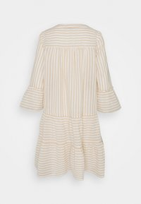 Vero Moda Tall - VMISABELL DICTHE 3/4 TUNIC - Day dress - snow white/gold - 1
