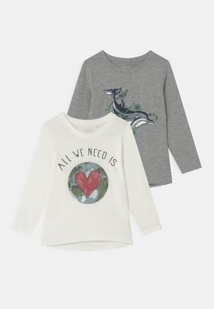 NMFVIOLET LOOSE 2 PACK - Langærmede T-shirts - snow white