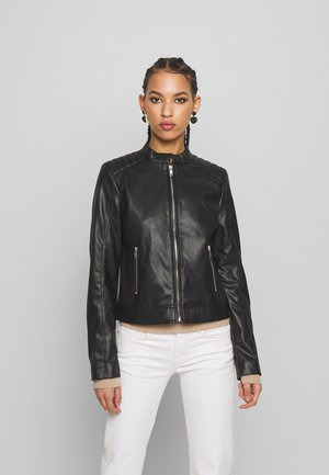 PCNALLY BIKER JACKET - Keinonahkatakki - black