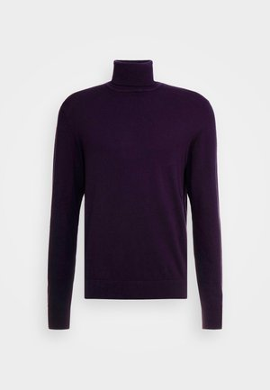 Stickad tröja - dark purple