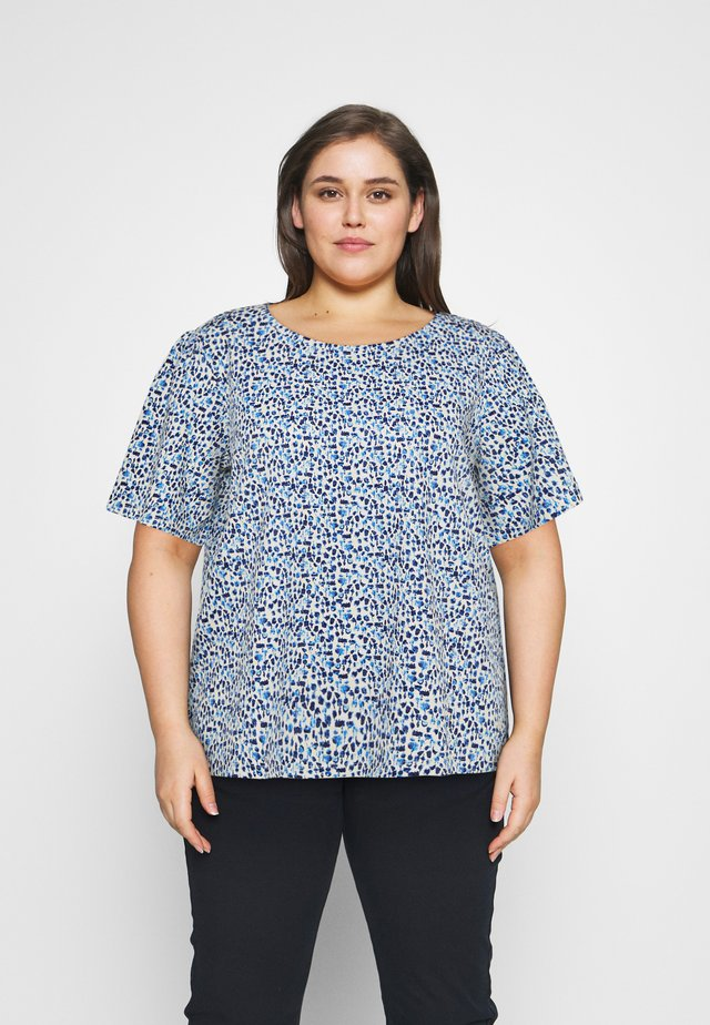 WITH SLEEVE GATHERING - T-shirts print - blue aquarelle
