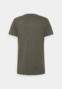 Tommy Jeans - SLIM JASPE V NECK - Basic T-shirt - dark olive htr - 1