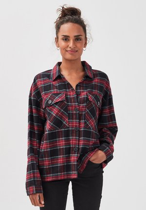 LANGARM-OVERSHIRT - Button-down blouse - noir