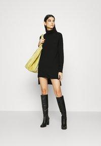 Gestuz - THELMA ROLLNECK - Jumper dress - black - 1