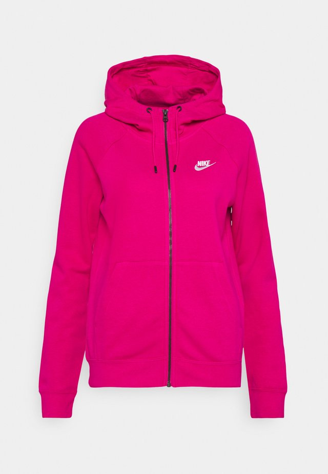 veste en sweat zippée - fireberry/white
