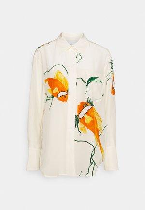 OVERSIZED  - Overhemdblouse - orange/cream