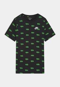 Nike Sportswear - SCRIPT - T-shirt z nadrukiem - black - 0