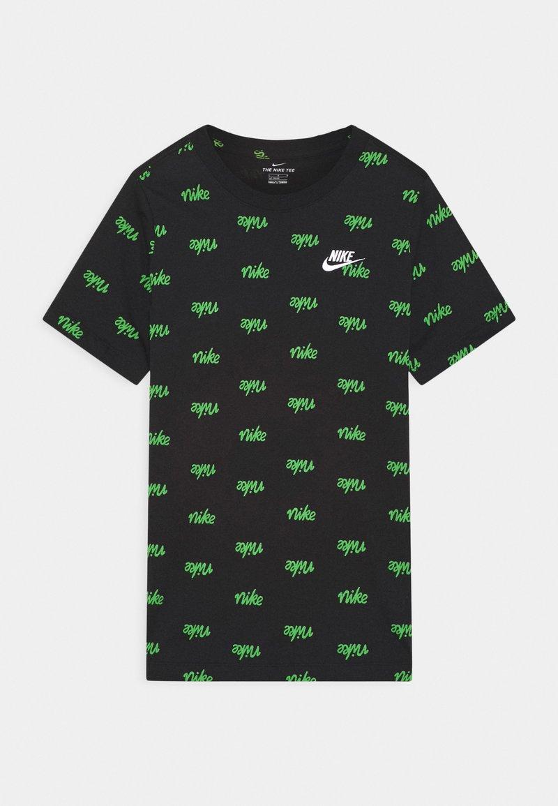 Nike Sportswear - SCRIPT - T-shirt z nadrukiem - black