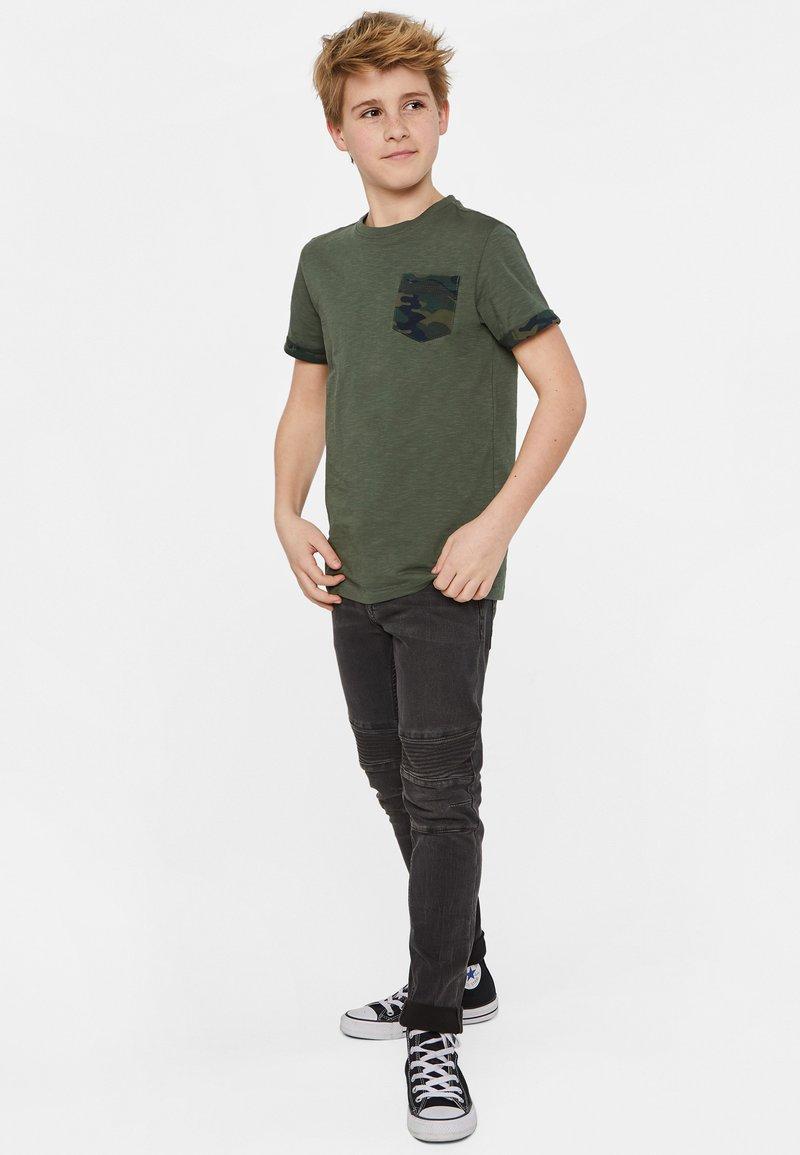 WE Fashion - Print T-shirt - army green