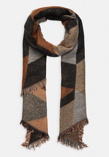 Sjal - copper/black/grey