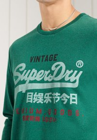 Superdry - Long sleeved top - forest green marl - 1