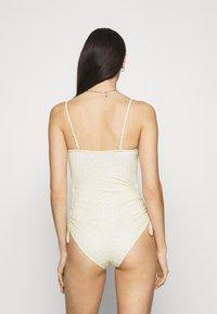 Monki - TANJA SWIMSUIT - Swimsuit - yellow - 2