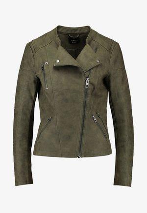 ONLAVA BIKER  - Faux leather jacket - kalamata