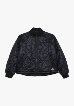 MONOGRAM JACKET - Chaquetas bomber - black
