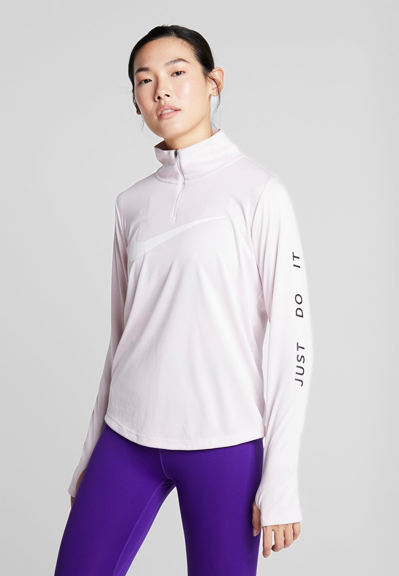 Nike Performance - MIDLAYER RUN - Sports shirt - barely rose/white