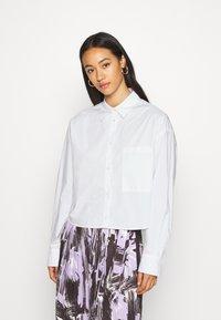 Monki - TAY SHIRT - Button-down blouse - white - 0