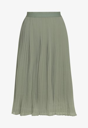 PLEATED SKIRT - A-line skirt - khaki green