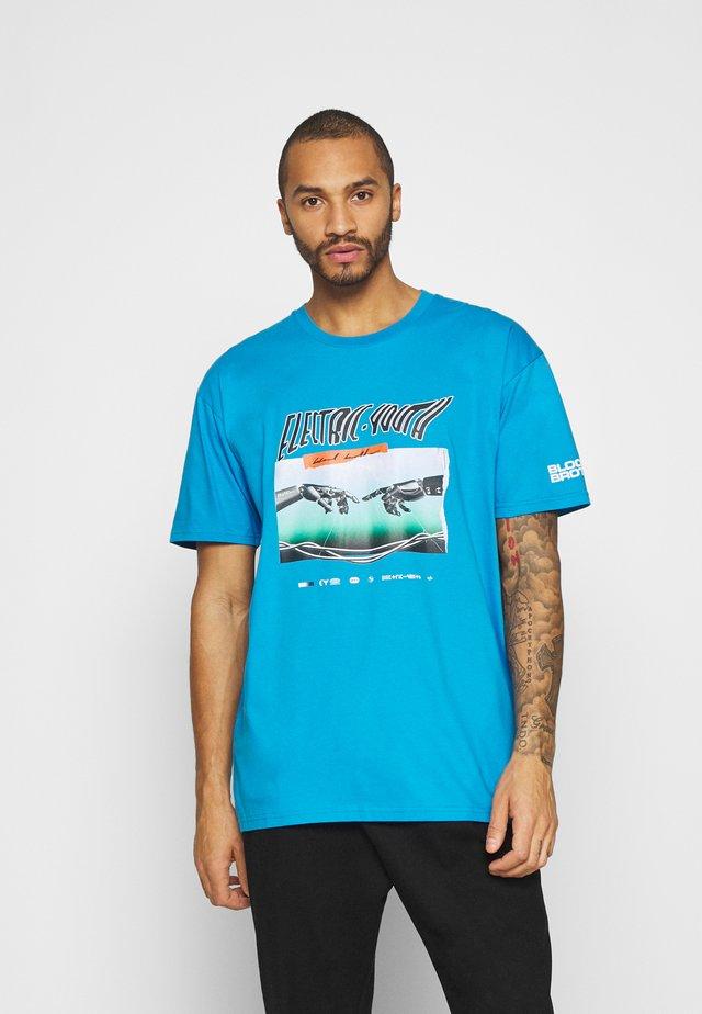 PAXTON TEE UNISEX - T-shirt print - dark blue