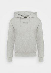 JPRBLUWOODY HOOD - Sweatshirt - light grey melange