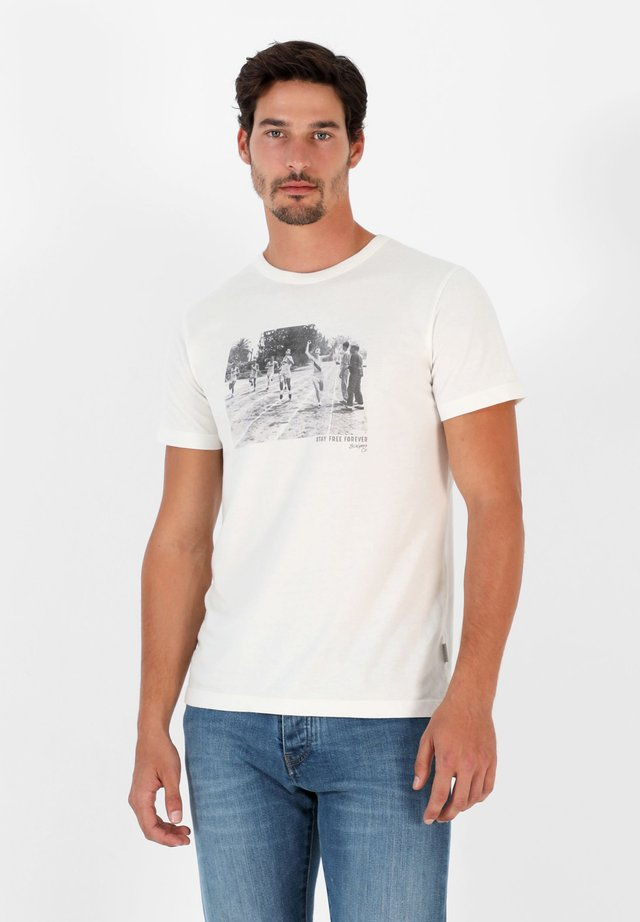 PHOTO TEE - T-shirt con stampa - off white