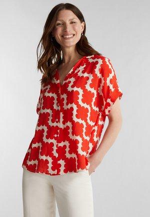 GRAFIK-PRINT - Button-down blouse - red orange