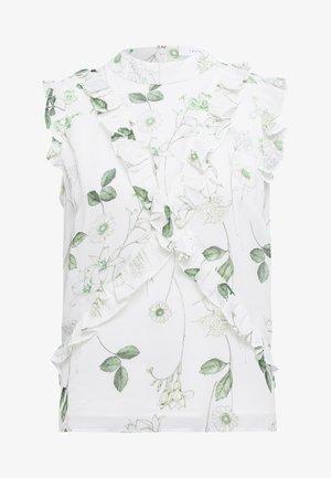 Blouse - aop - branche flowers snow white