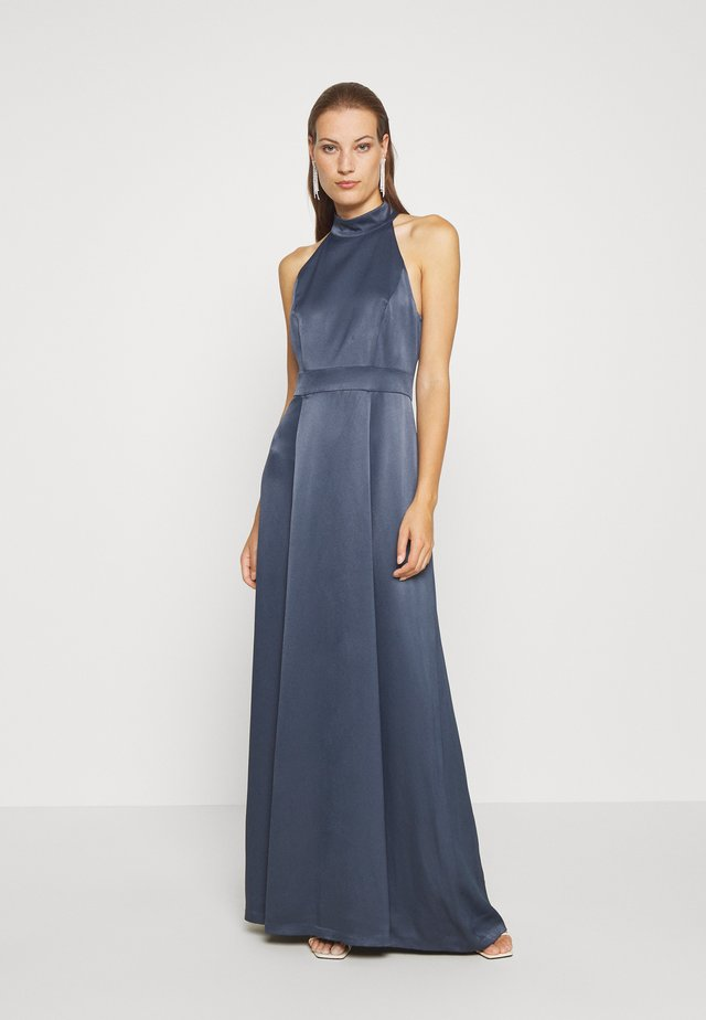 LONG NECKHOLDER DRESS - Occasion wear - graphit blue