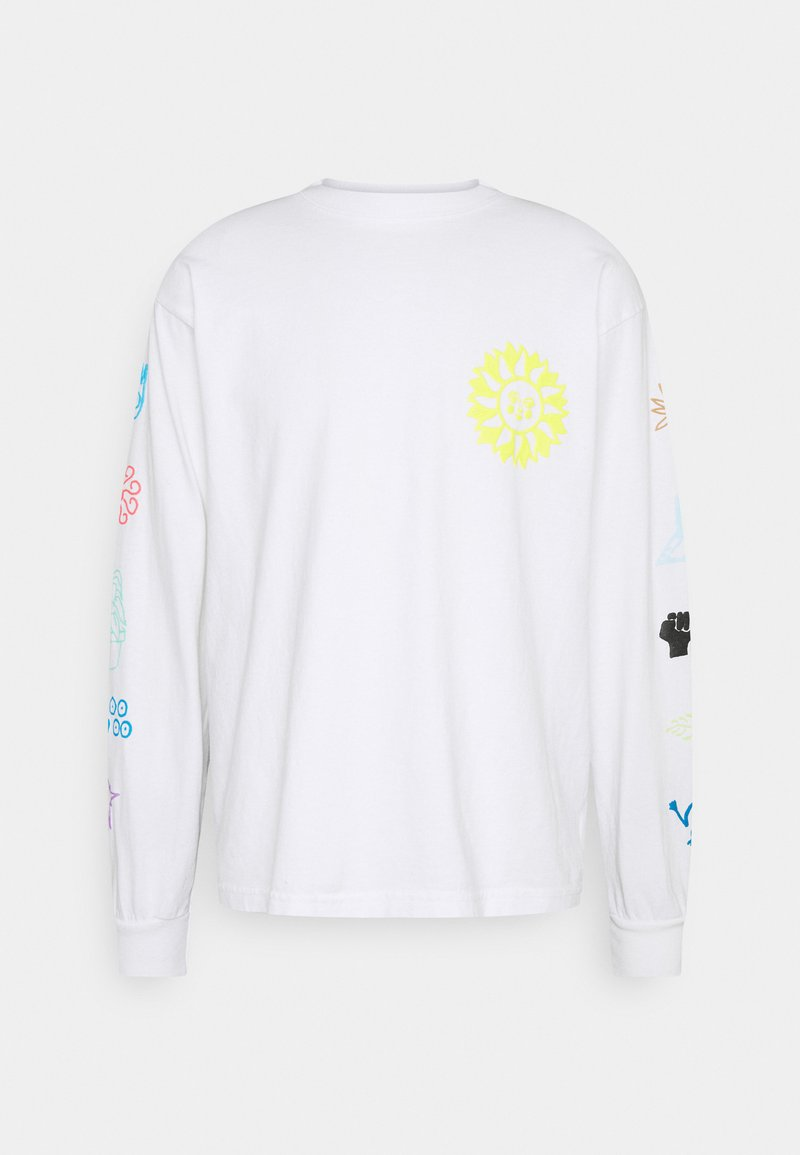 Obey Clothing - PEACE JUSTICE EQUALITY - Maglietta a manica lunga - white
