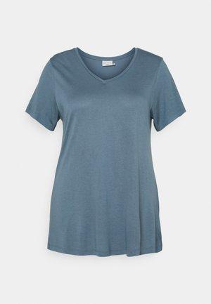 ANELI V NECK - Basic T-shirt - blue mirage