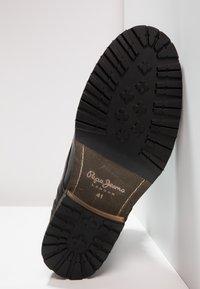 Pepe Jeans - MELTING ZIPPER NEW - Bottines à lacets - black - 4