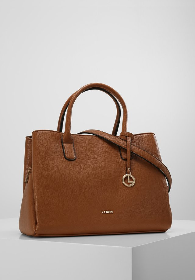 FINETTA - Shopping bag - cognac
