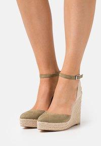Even&Odd - Platform sandals - khaki - 0