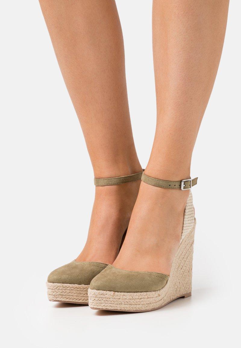 Even&Odd - Platform sandals - khaki
