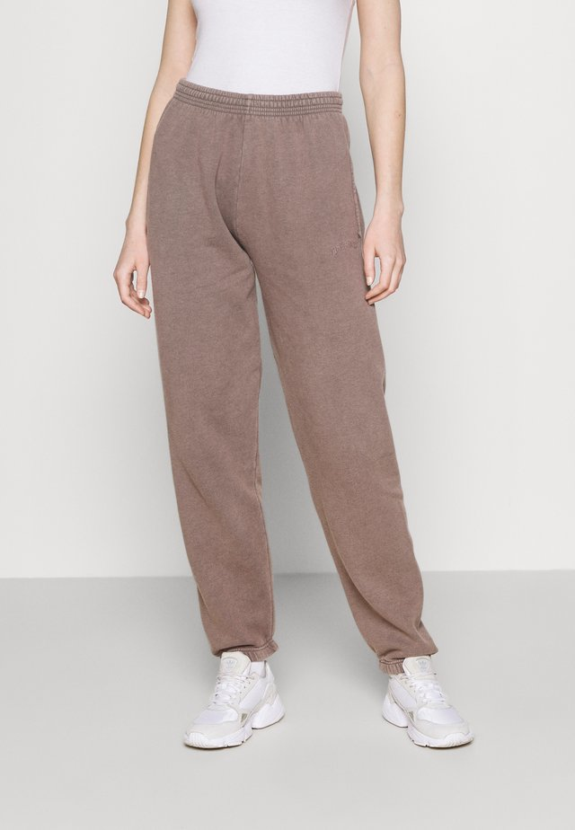 OVERDYED JOGGER - Trainingsbroek - chocolate