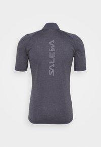 Salewa - AGNER HYBRID DRY ZIP TEE - T-shirt print - navy melange - 1