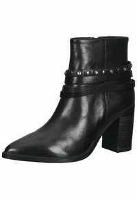 SPM Shoes & Boots - Enkellaarsjes met hoge hak - black leather - 2